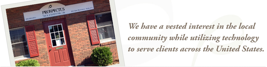 We have a vested interest in the local community while utilizing technology to serve clients across the United States.